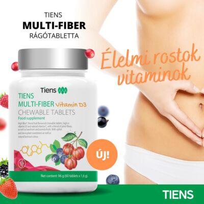 Multi Fiber rosttartalmú rágótabletta D és C vitaminnal